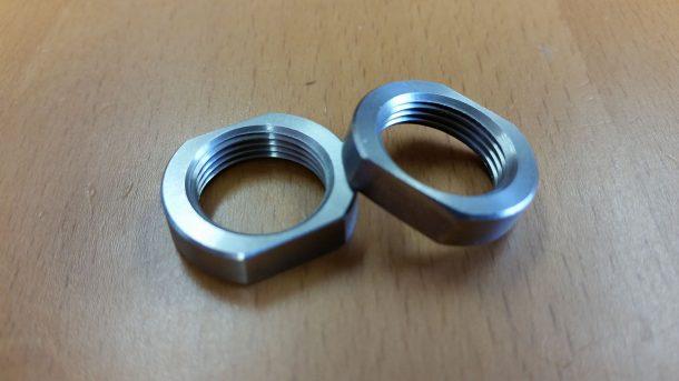 308 / 7 62 5/8 x 24 thread Jam nut ss steel