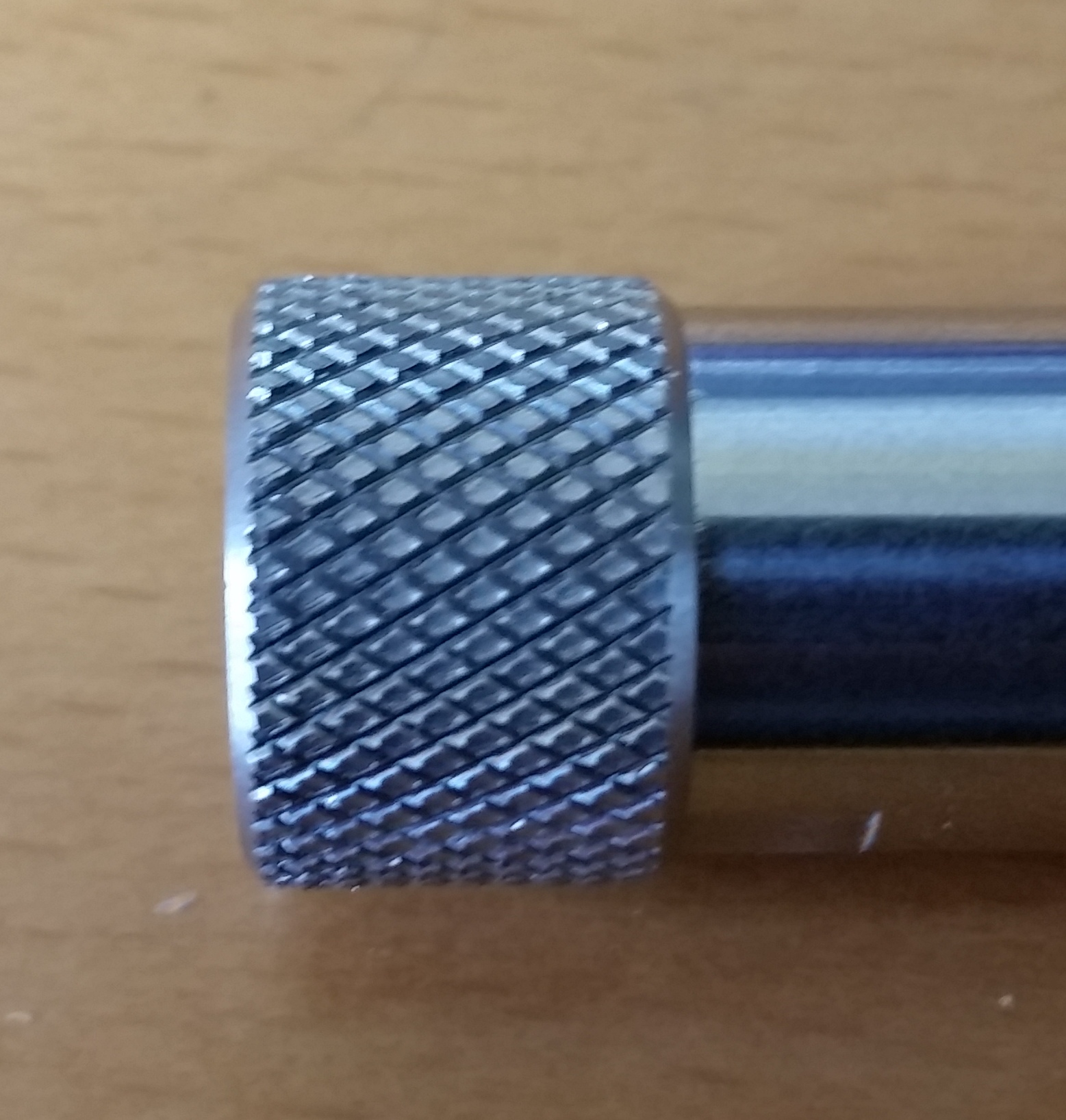 Barrel thread protector stainless down range