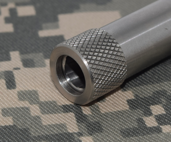 Mm ″ barrel thread and crown protector stainless