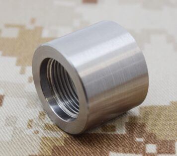 1/2 x 28 to 5/8 x 24 Barrel Thread Adapter Stainless #3113